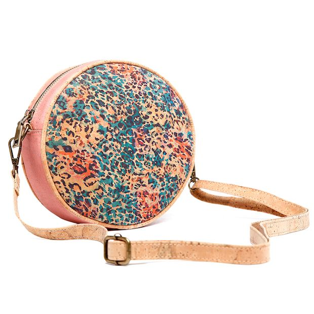 Round cork shoulder bag - Constellation