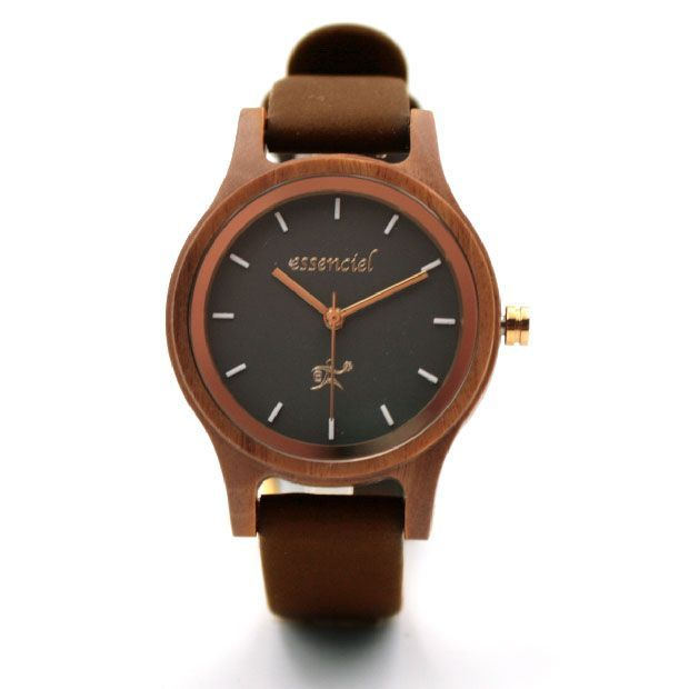 Women's watch in brown leather - Mylène